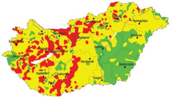 Vízkeménységi térkép