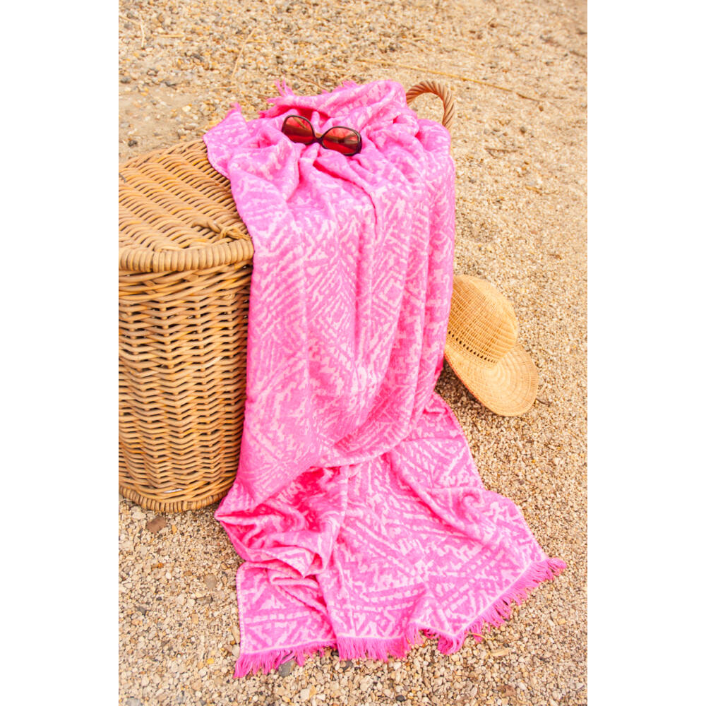 Honolulu pink strandtörölköző