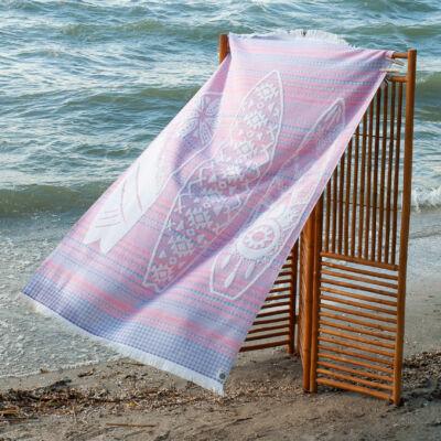 Waikiki pink strandtörölköző
