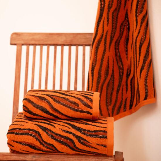 Burn narancs tigriscsíkos törölköző