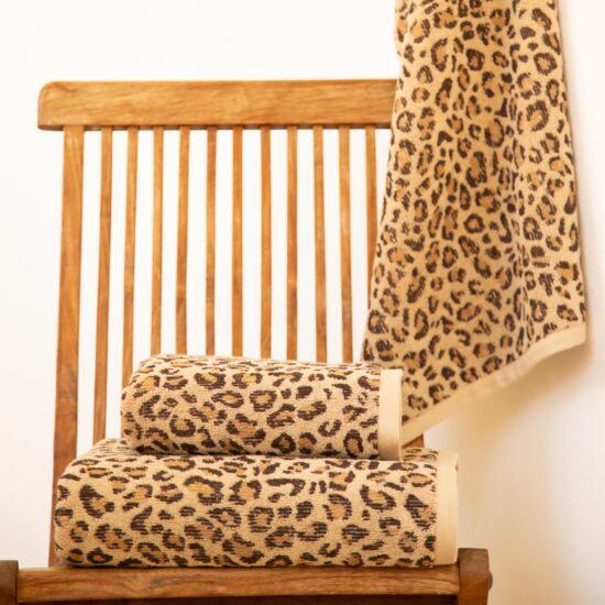 Jaguár karamell állatmintás törölköző
