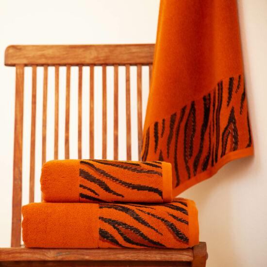 Tigra narancs tigriscsíkos törölköző