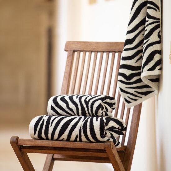 Zebra beige állatmintás törölköző