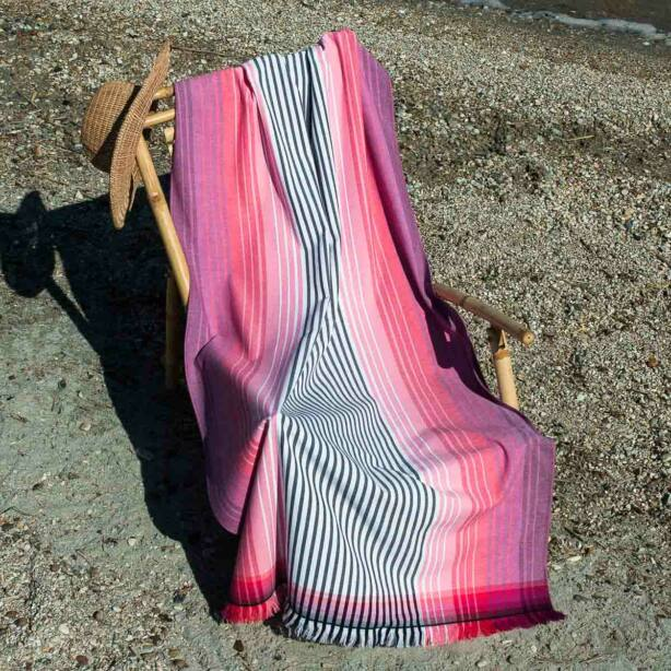 Bahama pink strandtörölköző