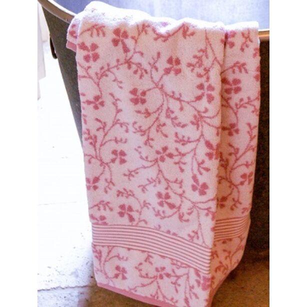 rózsaszín mintás Vintage Floral törölköző